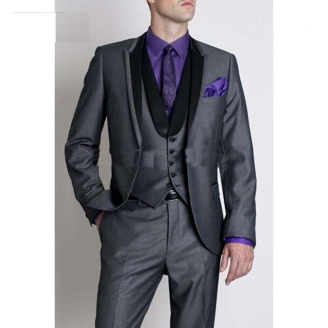 Custom made 3 quality black suit wedding dresses for western ...