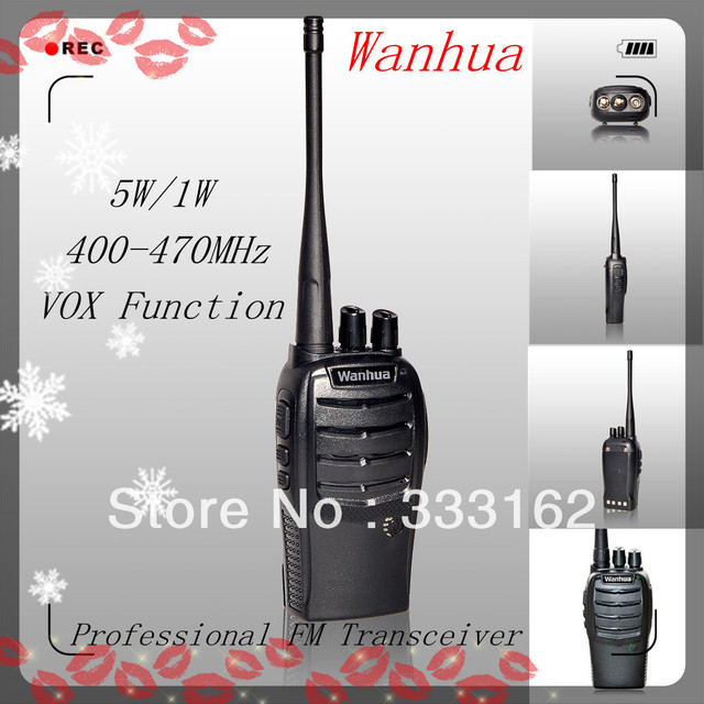 WH36A 5W/1W Two Way Radio, Battery Capacity Indicator 50 CTCSS 105DCS fm transceiver , VOX Function walkie talkie FREE SHIPPING