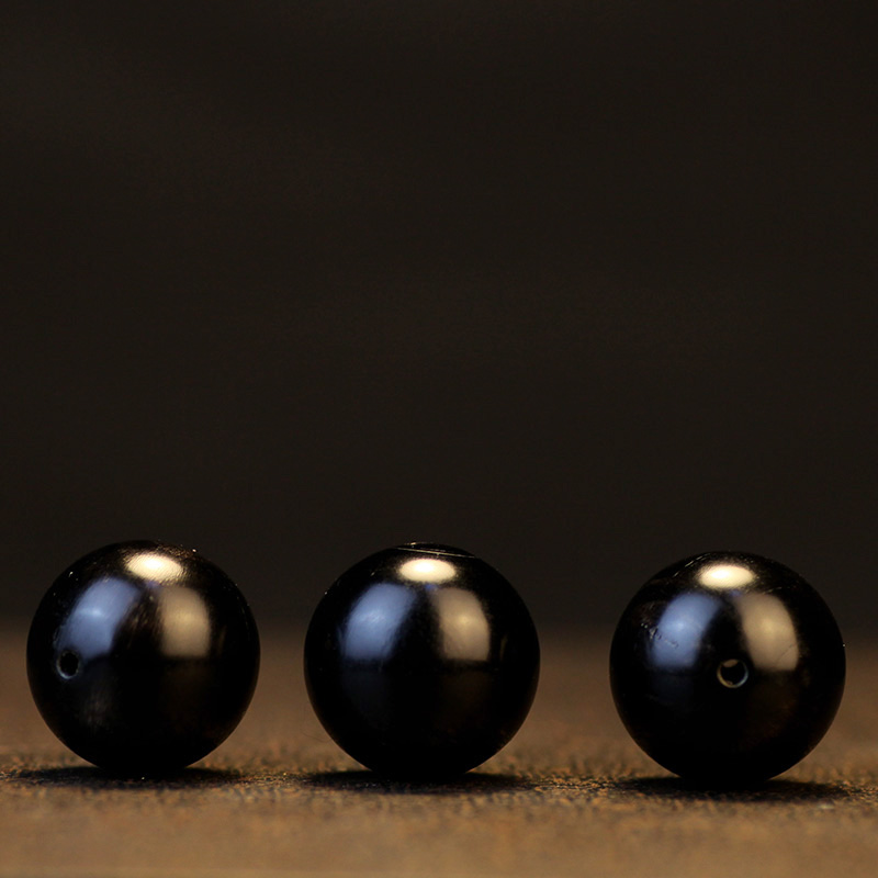 Round Beads Yak-Horn Mala's-Accessories Handcrafted Natural Tibetan Black