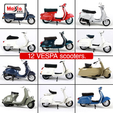 Maisto 1:18 PIAGGIO Vespa Alloy Motorcycle Diecast Model Toy For Baby Birthday Gift Toys Collection Original Box Free Shipping