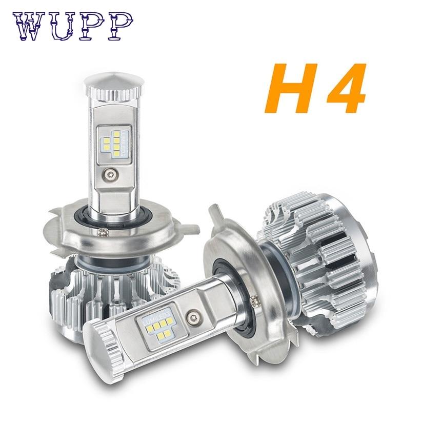 car-styling 120W 12000LM H4 LED Lamp Headlight Kit Car Beam Bulbs 6000k White Canbus Ma8 Levert Dropship