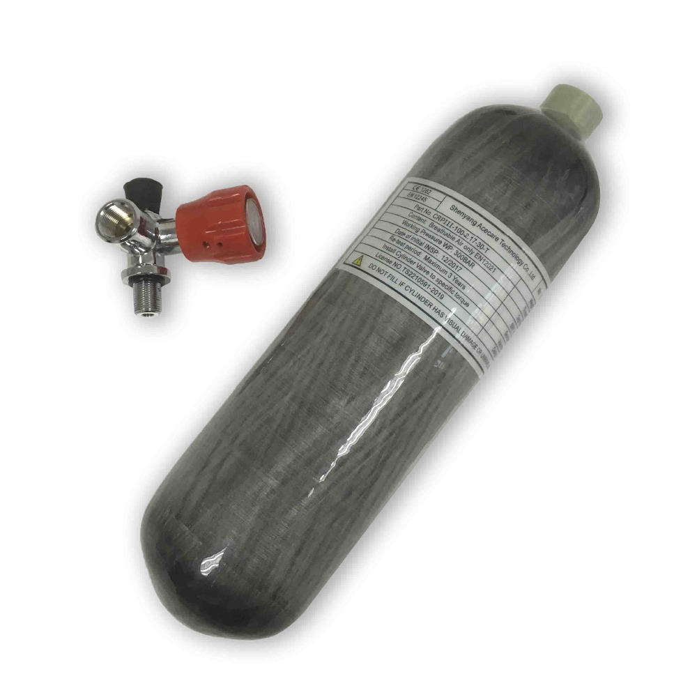 AC10211 PCP Air Rilfe 2.17L CE Certified 300bar 4500psi Pressure Tank Gas Cylinder With Valve Compressed Air Gun Drop Shipping