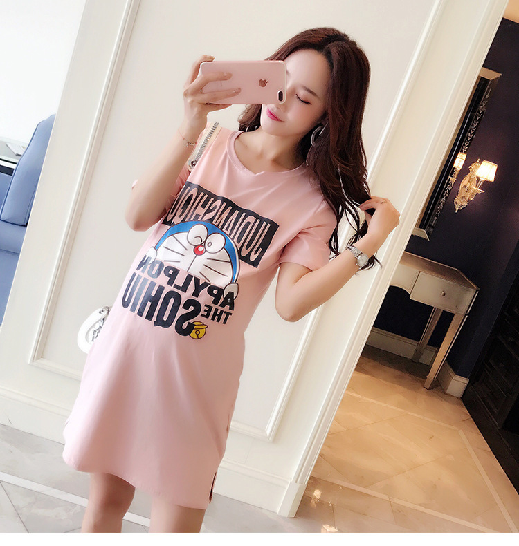 2018 New Cotton Short Sleeve Long Pregnant Woman Dress Elegant Vestido Maternity Gown Clothing Pregnancy Mama Clothes Summer