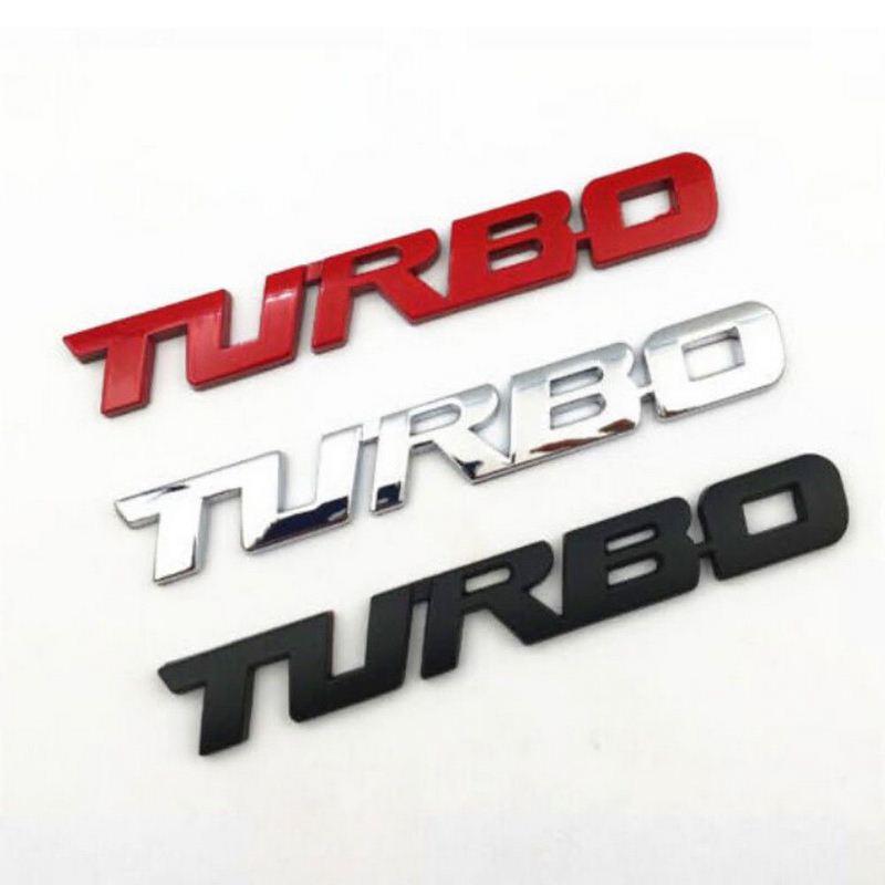 Turbo Grill Emblem Silver Metal  logo sticker badge decal Car auto