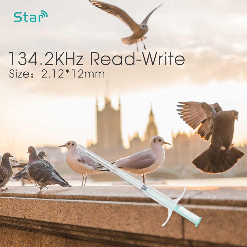 (10 sztuk/partia) 2.12*12mm FDX-B 134.2KHz RFID szkło Tag Implantable zwierząt ID mikrochip ze strzykawką wtrysku, pies kot ryby strzykawka