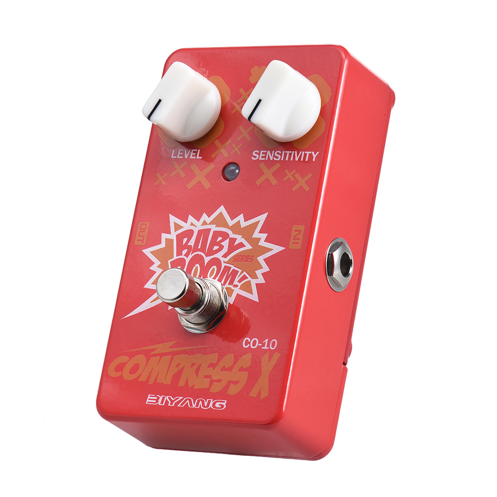 BIYANG CO 10 BABY BOOM Series Compressor Compress Guitar Effect Pedal True Bypass Full Metal Shell