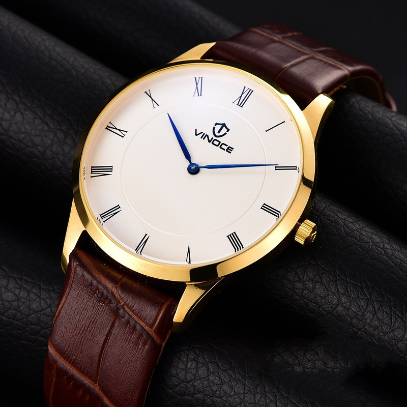 2017 Hot Fashion Luxury Brand Vinoce Quartz Watch For Men Business Dress Waterproof Wristwatch Men's Relogio Clock Montre Homme 2017 luxury brand fashion personality quartz waterproof silicone band for men and women wrist watch hot clock relogio feminino