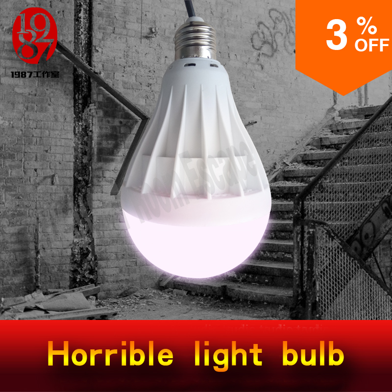 Takagism Game Prop Horrible Light Bulb Real Life Room Escape Props Create Horrible Atmosphere For Horrible Theme From JXKJ1987