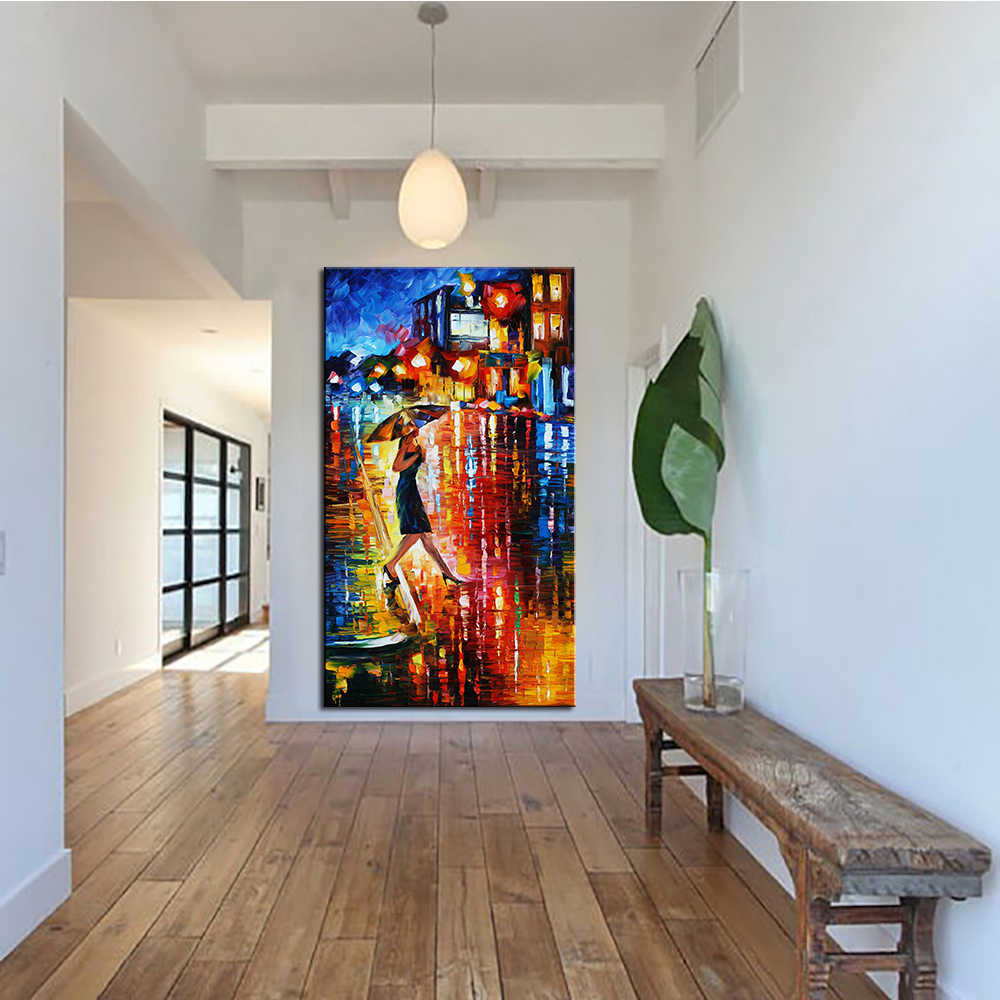 DPARTISAN posters In rains wall painting for home decor Giclee wall Art Abstract Canvas Prints No frame wall painting DH-35