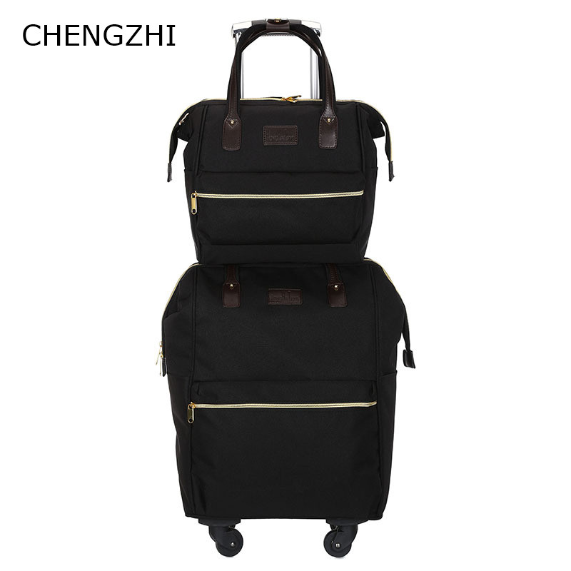 【Sinor】20 inch Waterproof Spinner Luggage Travel Business Large Capacity Suitcase Bag Rolling Wheel Black Color US Free Shipping - 2