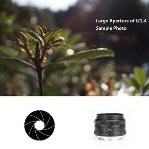 Image 5 - Meike 35mm f1.4 manuel odak lensi Sony e montaj için A7R A7S A6500 A7/Fuji X T2 X T3/ canon EOS M M6/M4/3 aynasız kamera + APS C