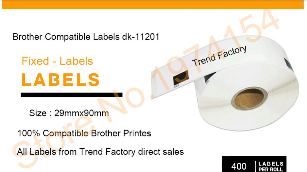 102mm x 152mm 3Rolls Compatible with Brother DK-1241