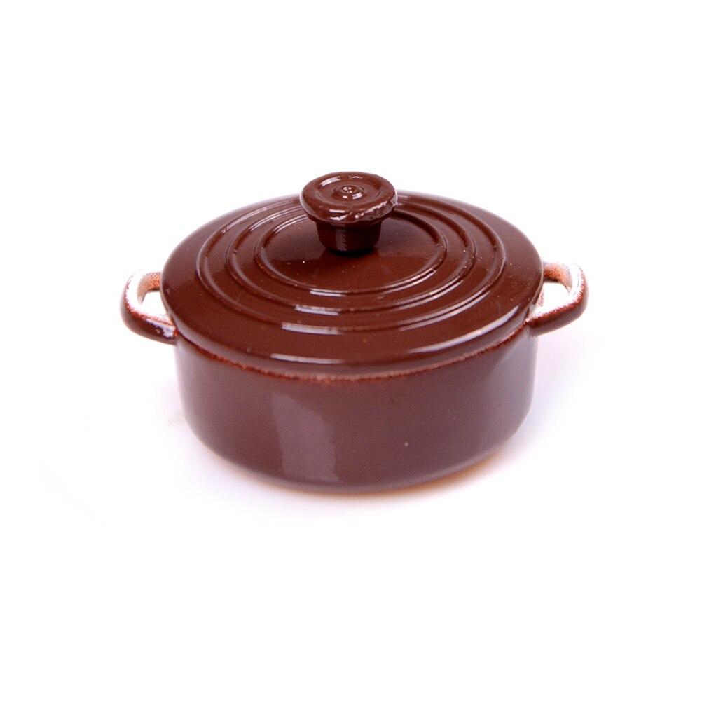 4Pcs Dollhouse Miniature Red Metal Cooking Pan Pot Kitchen Cookware Access Ri