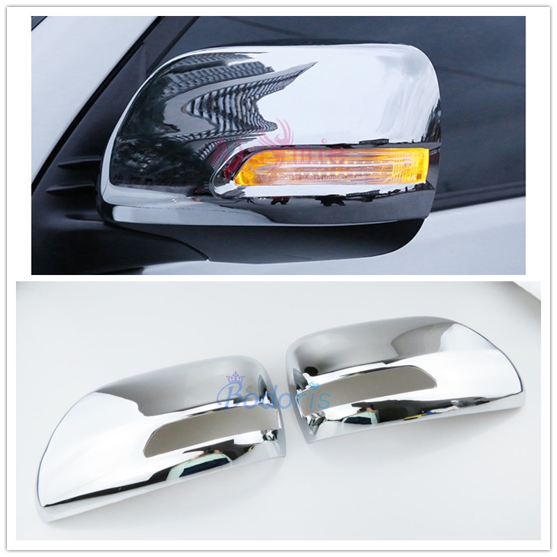 Door Mirror Cover Overlay Trim Chrome Car-Styling 2012 2013 2014 2015 2016 2017 For Toyota Land Cruiser 200 Accessories Silver