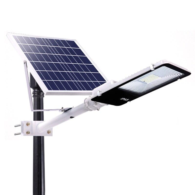 50/120W Solar Street Light LED Sensor Solar Panel Powered Wall Street Light PIR Motion Lamp for Outdoor Garden Street Lighting Street Lights     - title=