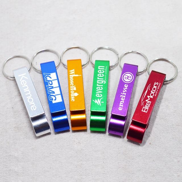 2c0a9c81b5 Gravado Chaveiro de Metal Chaveiro Abridor de Garrafa De Alumínio  Personalizado Texto Personalizado Logotipo Chaveiro Promocional
