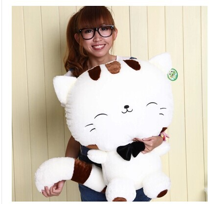 plush 70cm cute kitty white beige cat plush toy cat doll gift w3886 simulation animal large 30x16x16 cm prone kitty cat model lifelike white cat sounds miaow cat decoration gift t472