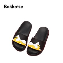 Bakkotie 2017 New Child Summer Baby Boy Slides Shoes Cute Girl Slipper Kid Brand Slip On Mules Non-slip Soft Sole Cartoon Pink