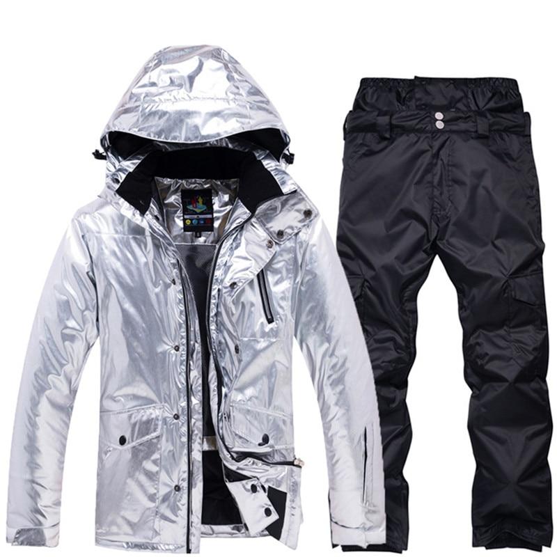 Capace Uomo Impermeabile Antivento Giacca Da Sci Di Inverno Degli Uomini Di Pantaloni Maschili Abiti Da Snowboard Cappotto Di Snowboard E Pantaloni Mens Di Inverno Vestiti Di Neve