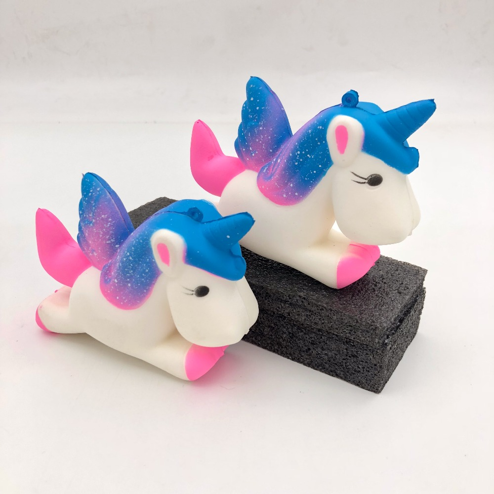 13.5cm Flight Unicorn Pony Squeezes Toy Slowly Rising Squeezes Toy Doll Funny Joke Prop Prank Maker Gag Gift