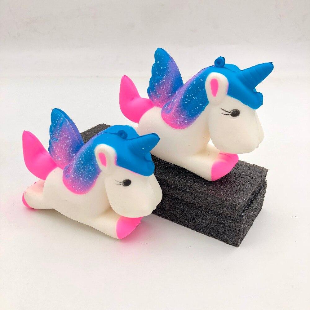 13.5cm Flight Unicorn Pony Squeezes Toy Slowly Rising Squeezes Toy Doll Funny Joke Prop Prank Maker Gag Gift
