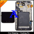Track No. + 100% tested original For Samsung Galaxy note n7000 i9220 LCD  Digitizer Assembly with frame