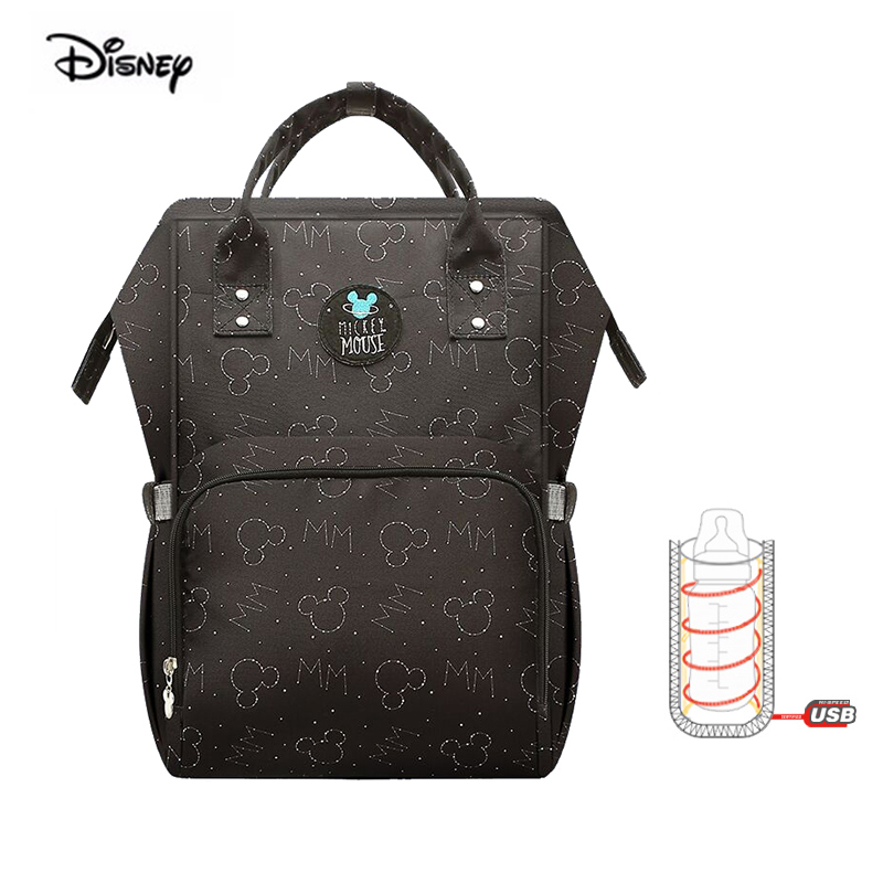 Bolsa para mamá de Disney, bolsa para cochecito Oxford, bolsa multifunción, mochila impermeable, bolsa de pañales para madres embarazadas, Mickey Mouse