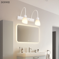 DONWEI Nordic LED Mirror Light Modern Wall Lamp For Bathroom Make Up Dressing Room Indoor Wall Sconce Lighting Fixtures