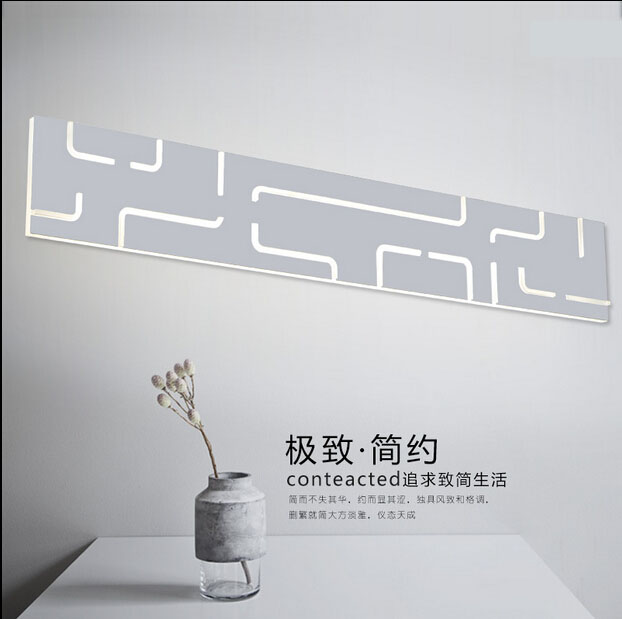 The new creative personality living room lamp wall lamp simple rectangular aisle LED study bedroom bedside lamp wall lamp light the new chinese iron wall lamp bedside lamp wall lamp rectangular chinese bedroom living room antique hotel wall light