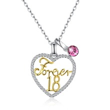 LEKANI crystal from Swarovski Elements S925 sterling silver various heart-shaped  Forever18 (forever 18) pendant necklace SVN324 0eb2072ab240
