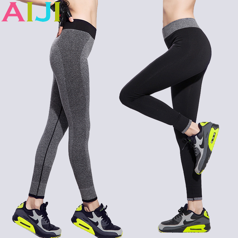 Prix pour Collants Running femmes Taille Haute Étiré Respirant Sport Gym Collants À Séchage Rapide Yoga Pantalons femmes Fitness Leggings Élastique Capris