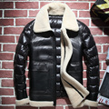 Men's Genuine Leather Down Coats Winter 2016 Sheepskin Double-faced Fur Fashion Short Section Coat Turn-down Collar GSJ396