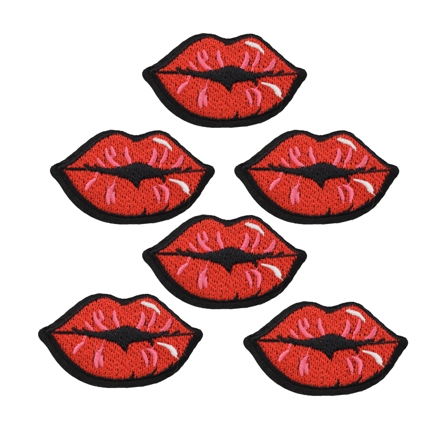 Pcs french kiss badges patches for clothing iron