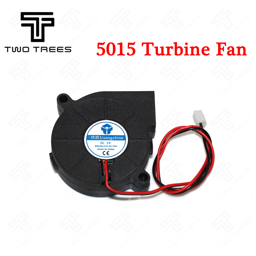 Free Shipping! 3D printer turbine Fan Cooling fan 5015 (50*50*15mm) FanSide Blower Fan extruder hotend cooling Turbo fans 0.15A free delivery 5 cm fan turbine 5015 24 v 0 11 a d05f 24 ph 3 b