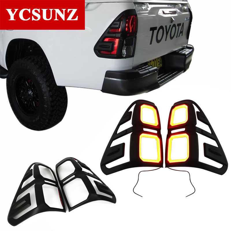 Car Styling Accessories Tail Lights Cover For Toyota Hilux Revo Rocco 2016 2017 2018 2019 TruckMasters OX
