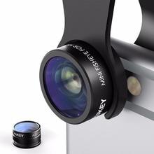 AUKEY 2 dans 1 Mini Clip-sur Téléphone Camera Lens Kit 160 Degrés Fisheye lentille + 10 X Macro Objectif pour iPhone 7 HTC et Plus Smartphone