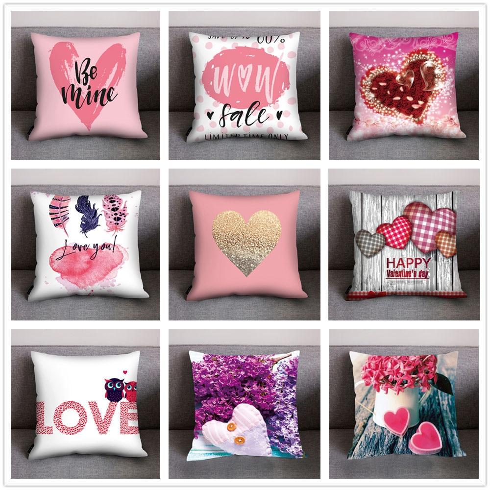 Cushion Cover Home Textile Pink Flamingos Geometric Nordic Cushion Cover Tropical Palm Leaf Throw Pillow Cover Cushion Case Sofa Bed Decorative Pillowcase
