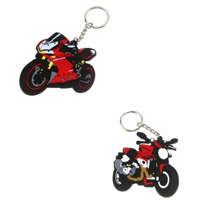 3D Motorcycle Accessories Motorcycle KeyChain Rubber Motorcycle Key Chain For DUCATI 1299 Panigale S 1200R 797 821 model