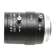 Lente de cámara HD con Iris fijo de megapíxeles, objetivo de cámara CCTV de 2,8 12mm, lente de cámara de seguridad HD Varifocal, Zoom Manual y enfoque de montaje M12/ CS
