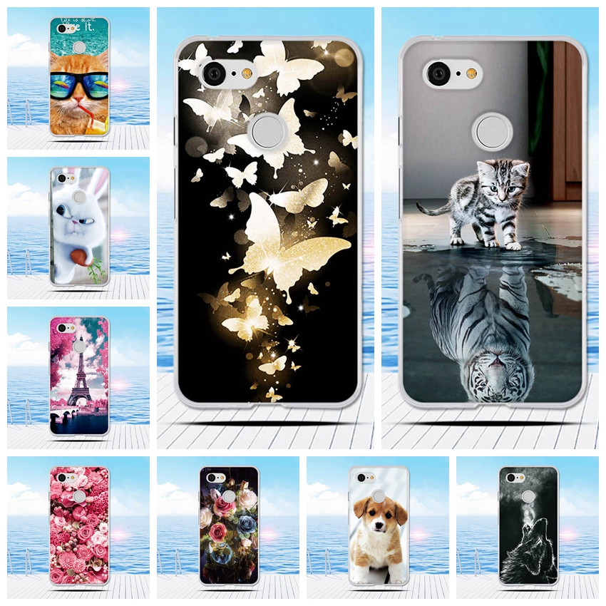 For Google Pixel 3 XL Case 6.2 Inch TPU Case Soft Ultra Thin Silicone For Google Pixel 3 Case Cell Phone Cover Cartoon Printing