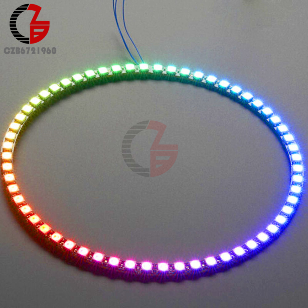 Wireless Wifi Control ESP8266 ESP-01 ESP-01S WS2812B 12 16 24 60 LEDs 5050 RGB LED Ring Light LED Adapter Controller For Arduino