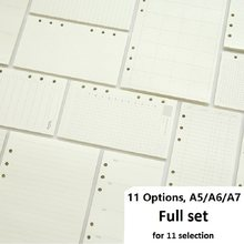 Recambio de cuaderno de hojas sueltas A5 A6 A7, carpeta espiral, planificador de página interior, papel diario semanal, Plan mensual para hacer línea, red de puntos