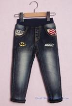 Nouveau printemps automne bébé garçons Jeans Skinny pantalon Denim enfants pantalons pour enfants enfants Jeans noirs livraison gratuite 4 – 9 T