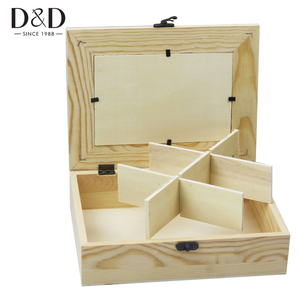 Natural Wooden Box Storage Box For Jewelry Organizer DIY Wood Case Gift Boxes 21.5*16*5.8cm
