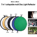 "80cm 7 in 1 32"" Colorful Portable Photography Studio Reflector Multi Photo Disc Collapsible Light Reflector"