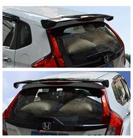 SHCHCG ABS Plastic Unpainted Primer Color Rear Boot Trunk Wing Spoiler Car Accessories For Honda Fit Jazz 2014 2015 2016 2017