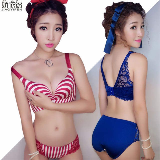 72f3490641c61 JYF Hot sale high quality women underwear lucky print 3D love bra set sexy  lace seamless young girls lingerie bra panty sets