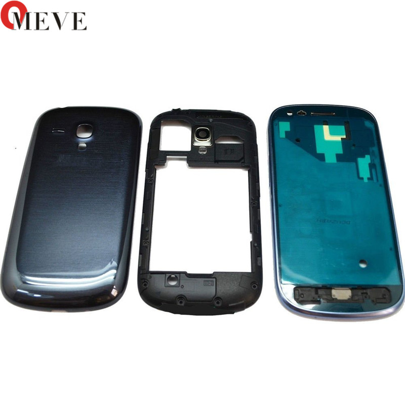For Samsung Galaxy S3mini SIII s3 mini GT-i8190 i8190 Front Plate Frame LCD Holder Bezel housing + Cover case battery door image