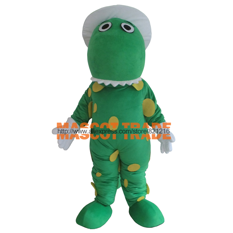 Зеленый дракон динозавров Маскоты костюм на заказ Косплэй Маскоты te тема карнавальный костюм Наборы для Хэллоуина