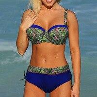 2018 Hot Sale Womens Halter Retro Vintage Push Up High Waist Swimsuit Bikini Swimsuit Brazilian Bikini
